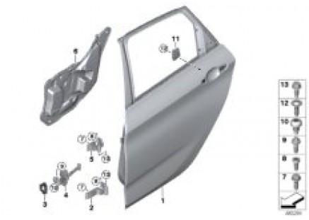 Rear door - hinge/door brake