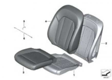 Seat front, upholstery & cover base seat