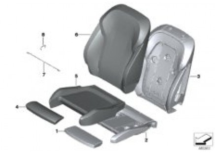 Seat front, uphlstry/cover, Comfort seat