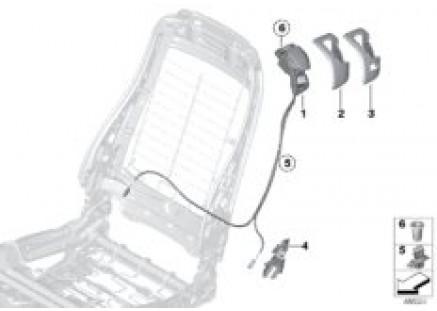 Front seat backrest unlocking