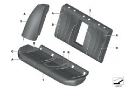 Individual base seat, rear