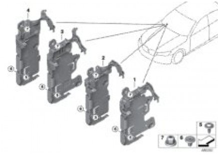 Holder for Body Domain Controller BDC