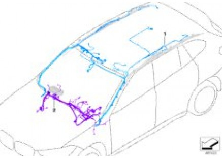 Rep.cable f.main wiring harness - Airbag