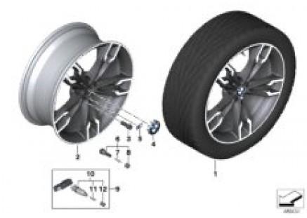 BMW LA wheel double spoke 668M - 20