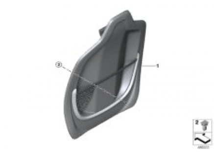 Seat, front, backrest trim covers