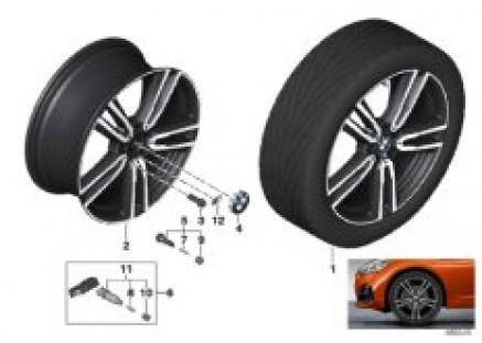 BMW li.-al.wheel double spoke 766M - 19