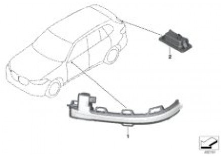 Auxiliary turn signal lamp/s outer