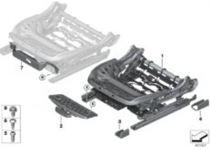 Seat, front, seat frame, electric