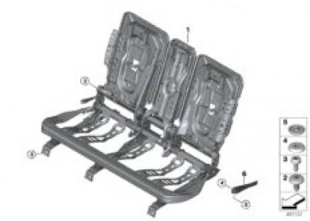 Seat, rear, seat frame, base seat