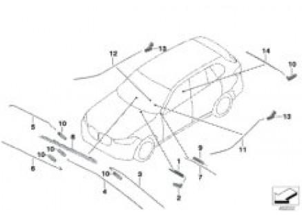 Fiber-optic conductor, vehicle interior