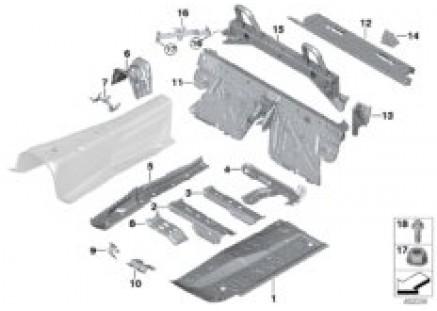 Partition trunk/Floor parts