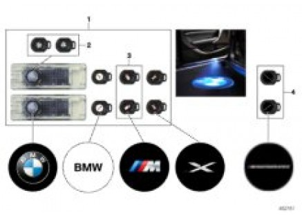 LED door projector