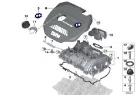 Cylinder head cover/Mounting parts