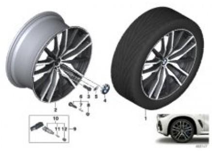 BMW LA wheel double spoke 742M - 22