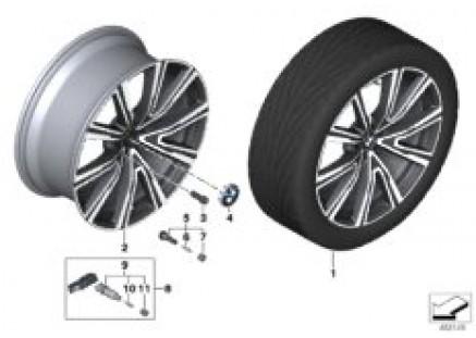 BMW LA wheel V-spoke 746I - 22
