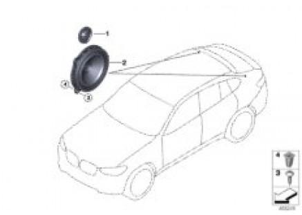 Single parts, speaker, D-pillar