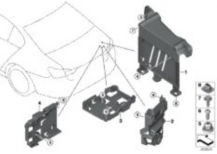 Mount for BCU battery charge module