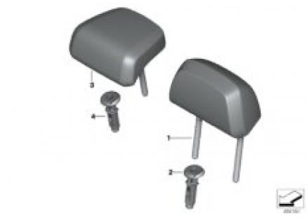 Seat, rear, head restraint, base seat