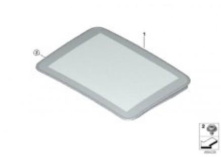 Sliding lifting roof-glasscover