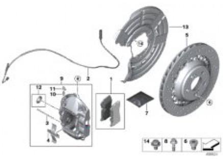 M sport brake system, red - REP RA