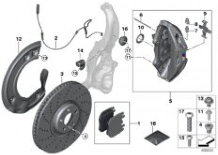 M Performance front brake - replacement