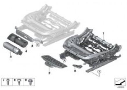 Seat, front, seat frame, manual