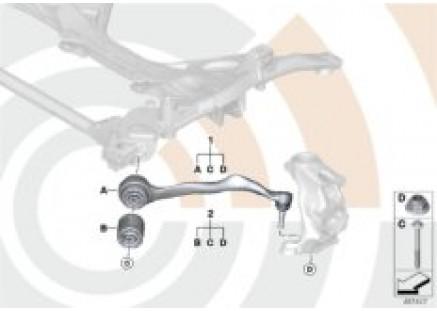 Repair kit for radius rod