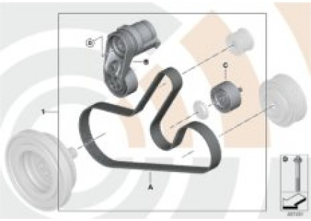 Repair kit for belt drive