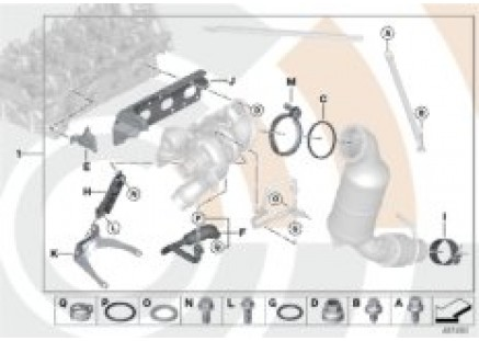 Turbocharger and installation kit