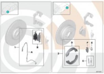 Service kit brake pads