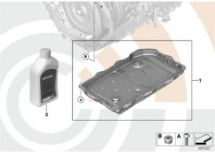 Fluid-change kit, autom. transmission