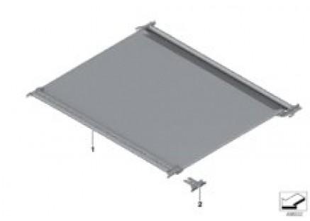 Sliding/tilting sunroof blind