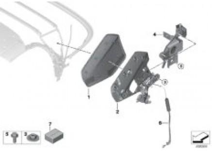 Convertible top folding mechanism
