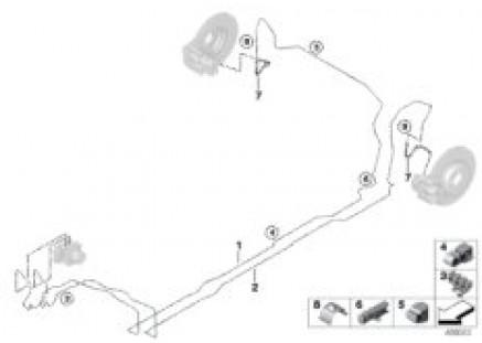 Brake pipe rear