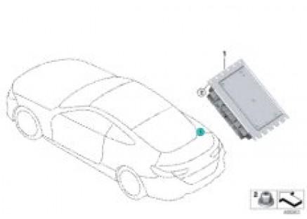 Rear axle differential control unit