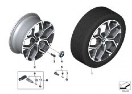 BMW LA wheel Y-spoke 579 - 18