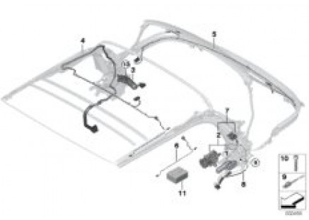 Convertible top electr.system/harness