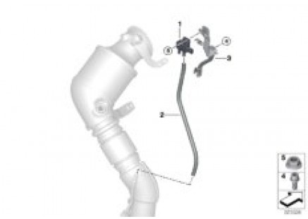 Petrol particul.filter sens./mount.parts