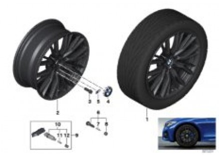 BMW LA wheel M double spoke 796M - 18