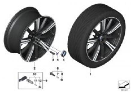 BMW LA Wheel M star spoke 749M - 22