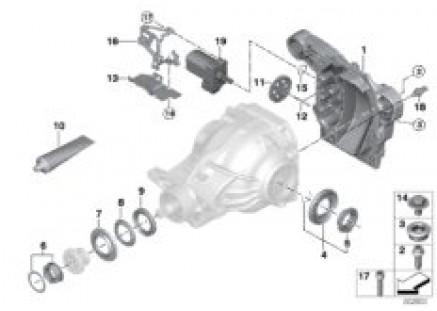 Rear differential single parts - 225ALS
