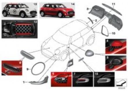 JCW aerodynamics accessory parts ¿ F5x